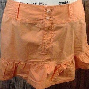 Orange Skirt American Rag Mini Skirt